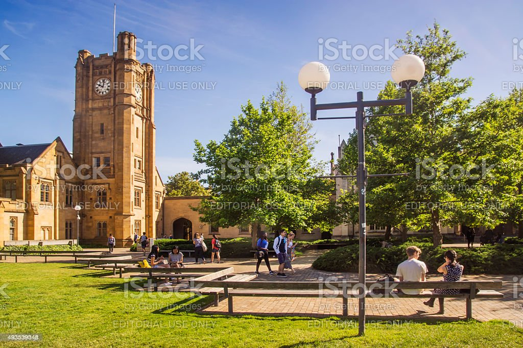 University of Melbourne - South Lawn stock photo