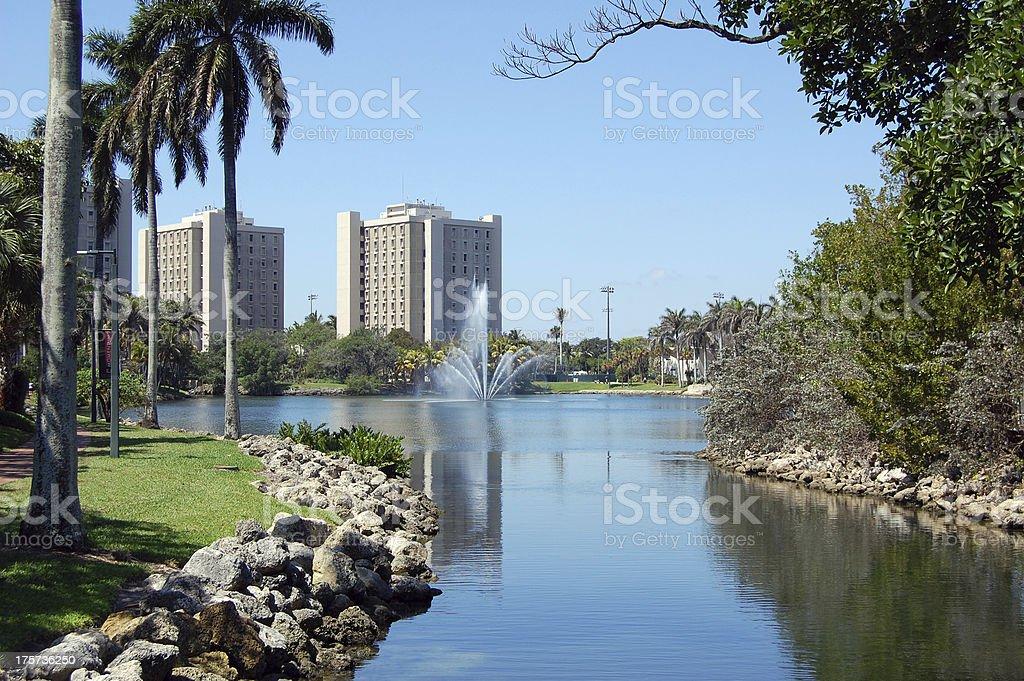 University of Miami campus stock photo
