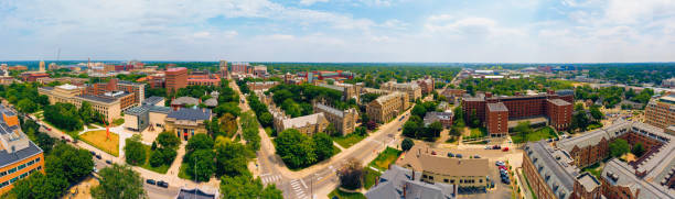 University of Michigan Ann Arbor Aerial view stock photo