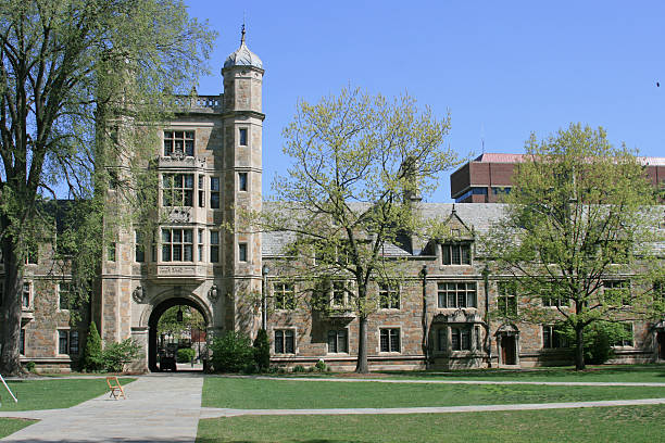 University of Michigan Law School, Ann Arbor. Clear blue sky.