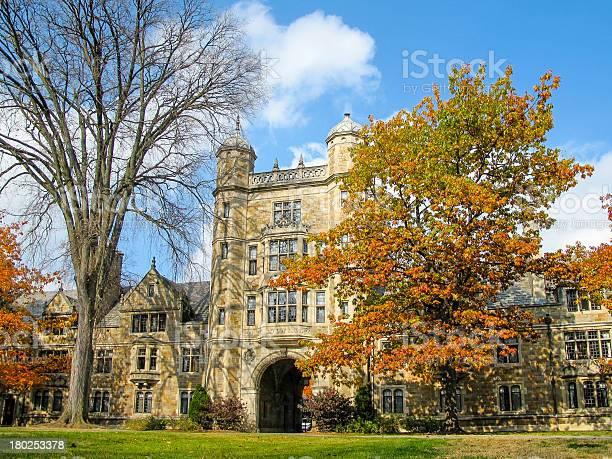 University Of Michigan Law School Quadrangle Ann Arbor Mi Stock Photo - Download Image Now