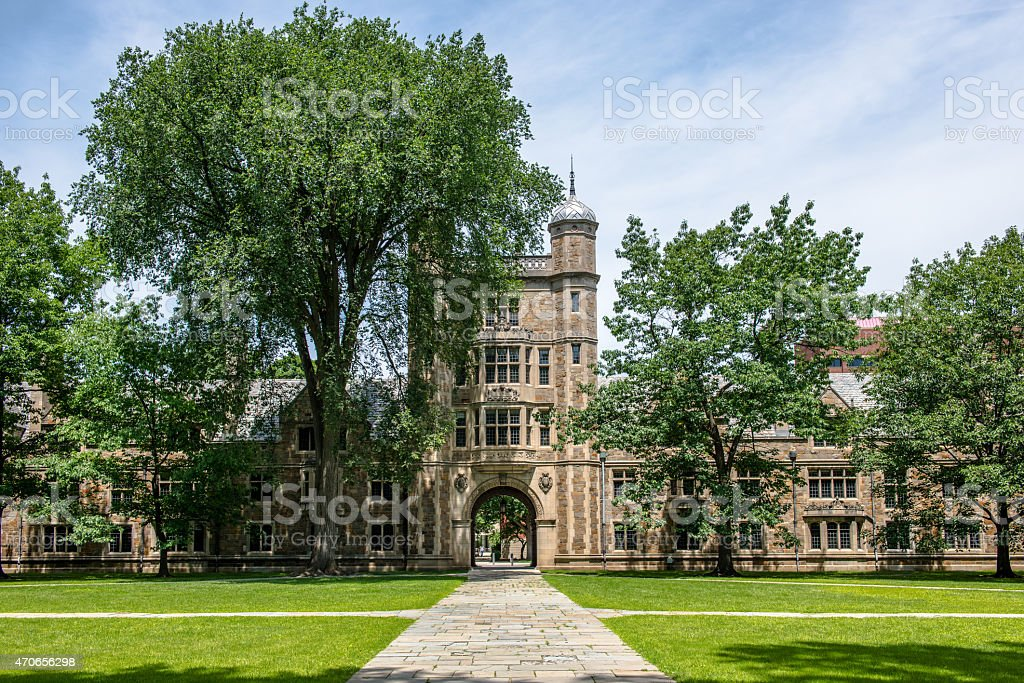 University of Michigan Law School Quadrangle, Ann Arbor, MI stock photo