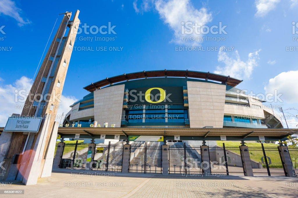 University of Oregon Autzen Stadium stock photo