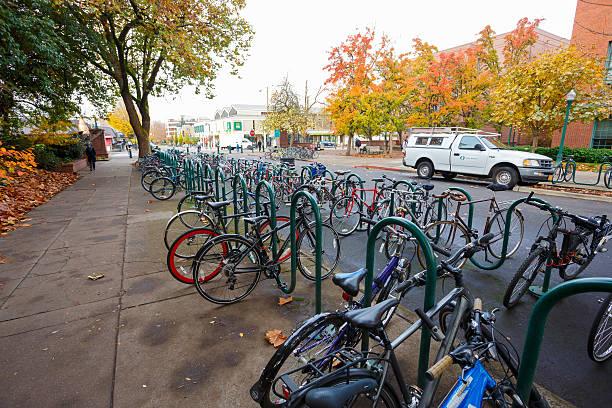 University of Oregon Bikes stock photo