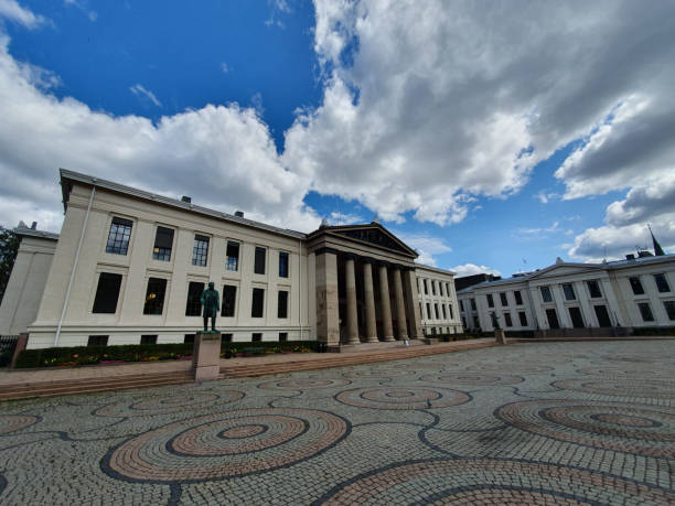 University of Oslo University of Oslo Faculty of Law, Norway university of oslo stock pictures, royalty-free photos & images