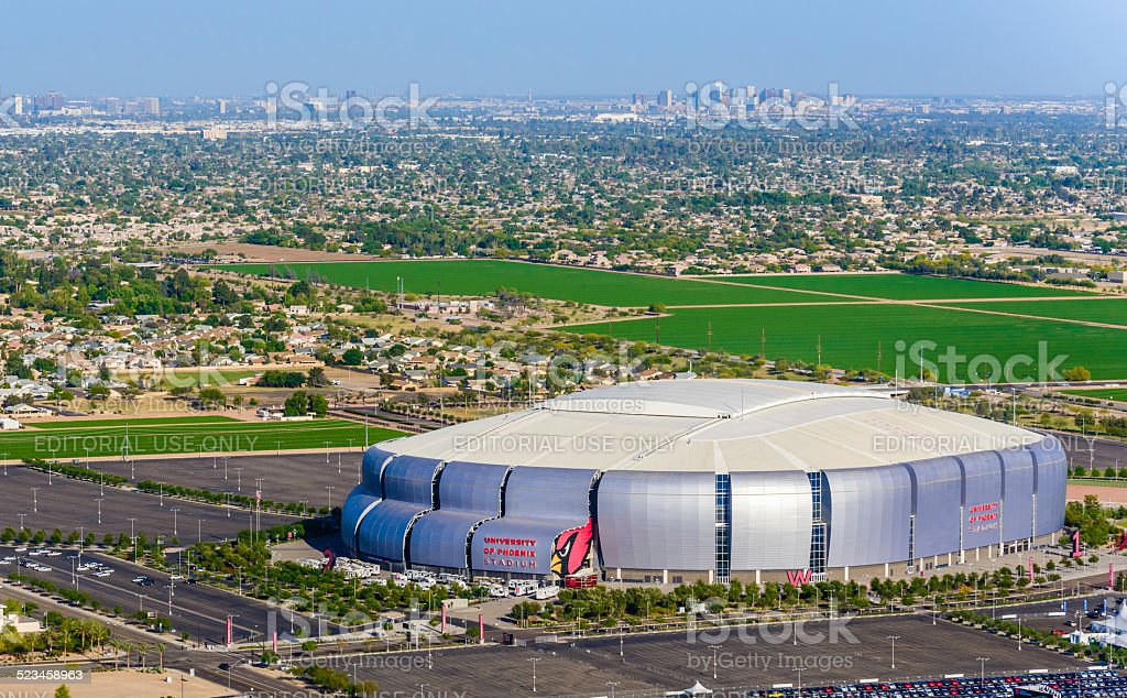 University of Phoenix Stadium Glendale Arizona, 2015 Superbowl football host stock photo