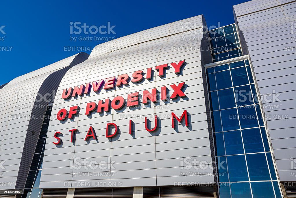 University of Phoenix Stadium Glendale Arizona, 2015 Superbowl XLIX host stock photo