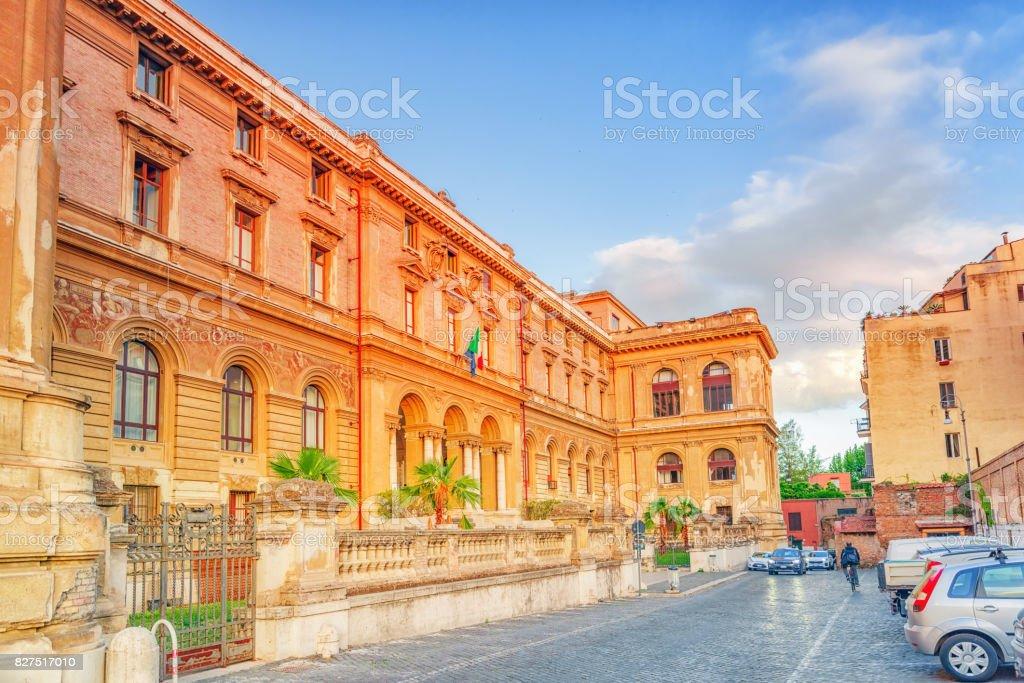 University of Rome La Sapienza - Department of Mechanical and Aerospace Engineering. stock photo