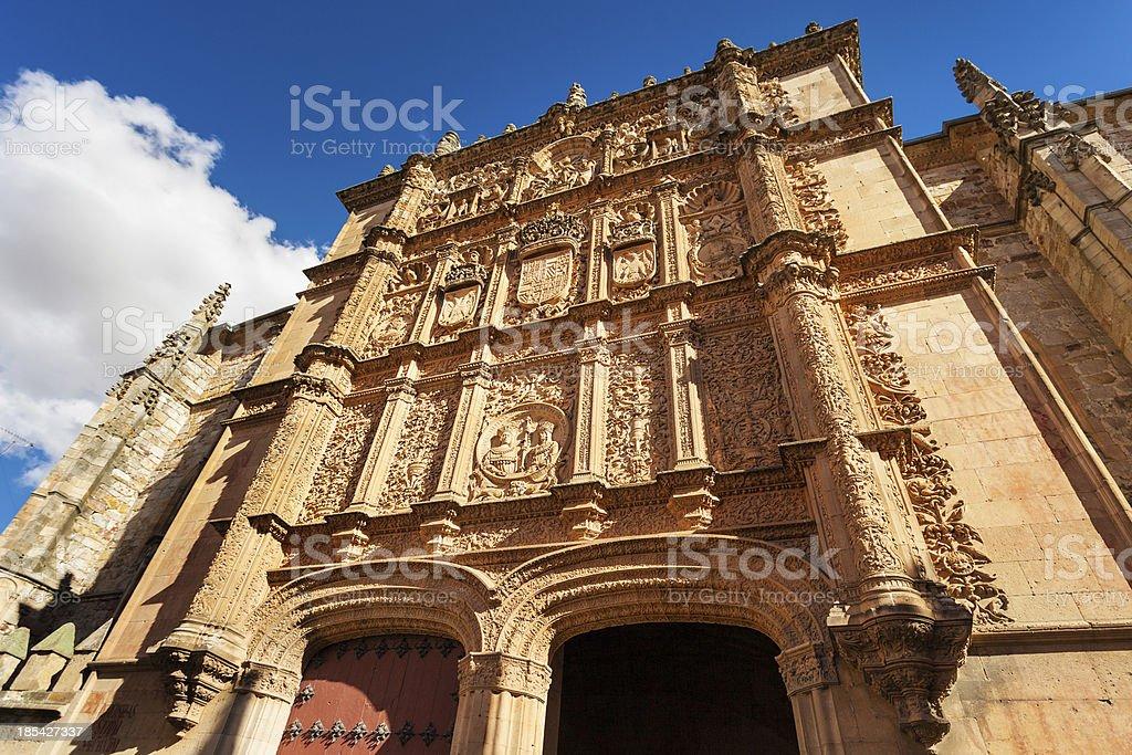 University of Salamanca main facade stock photo