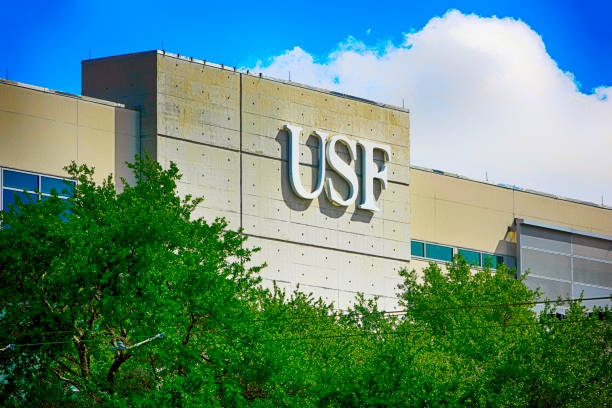 University of South Florida Health education building in downtown Tampa FL, USA stock photo