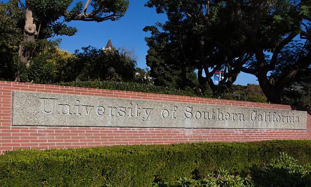 University of Southern California Entrance Sign stock photo