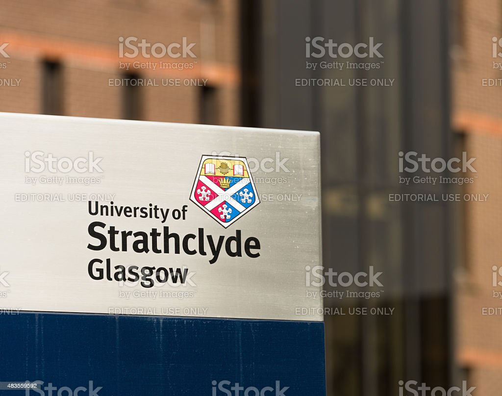 University of Strathclyde, Glasgow stock photo