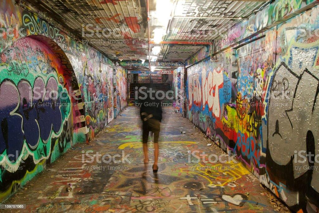 University of Sydney - Graffiti Tunnel stock photo
