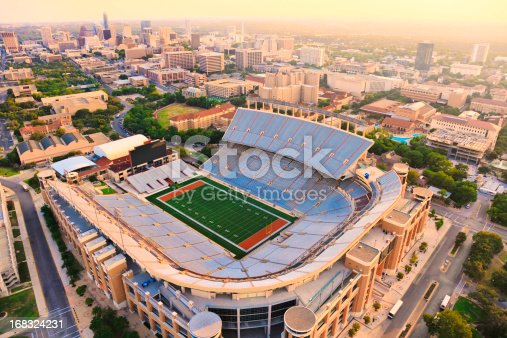 istock University of Texas Football Stadium - Aerial View 168324231