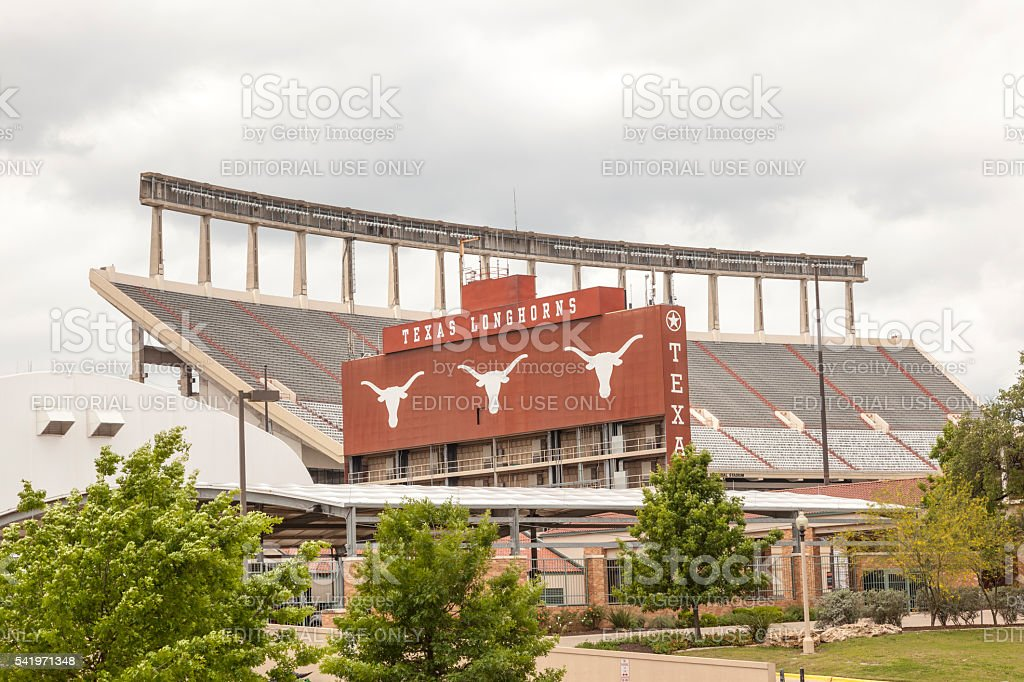 Stadion der University of Texas in Austin Lizenzfreies stock-foto