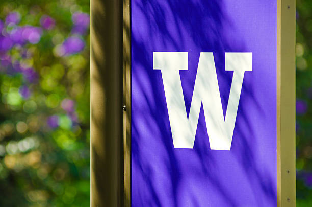 University of Washington logo stock photo