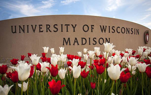 University of Wisconsin Madison Sign stock photo
