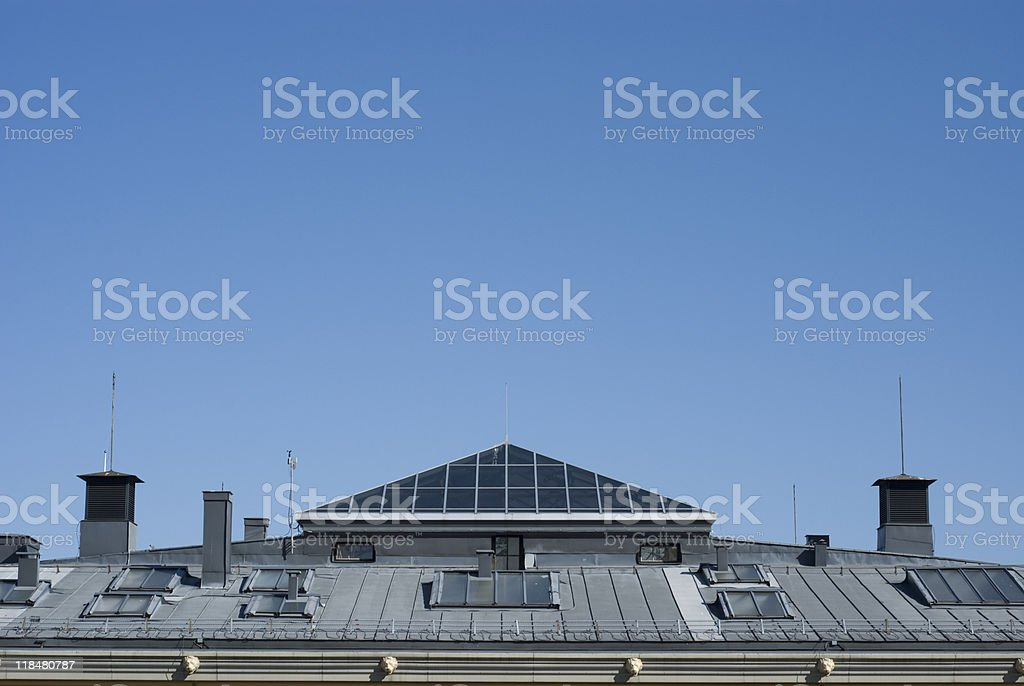 University Rooftop stock photo