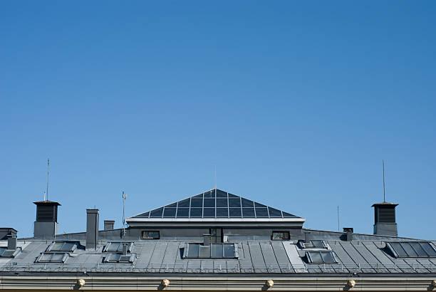 University Rooftop stock photo