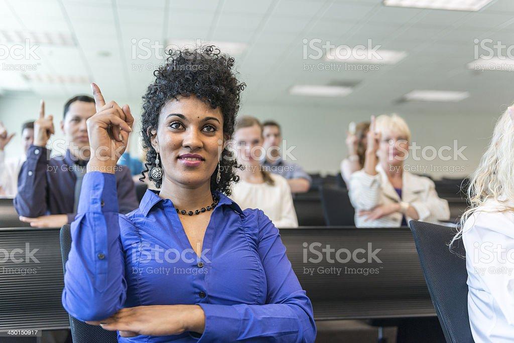 University Sign Language Class stock photo