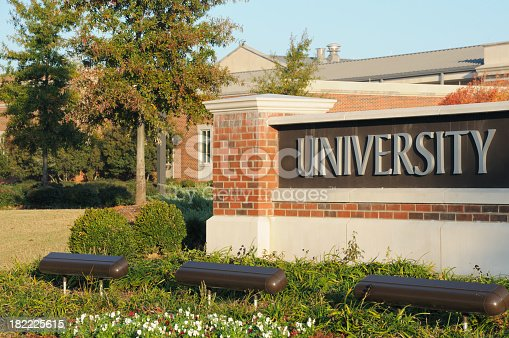 istock University sign 182225615
