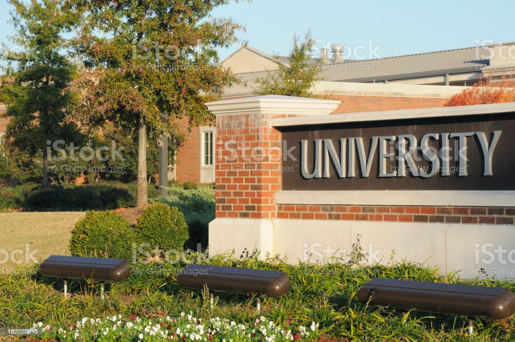 University sign stock photo