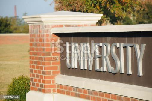 istock University sign 182250396