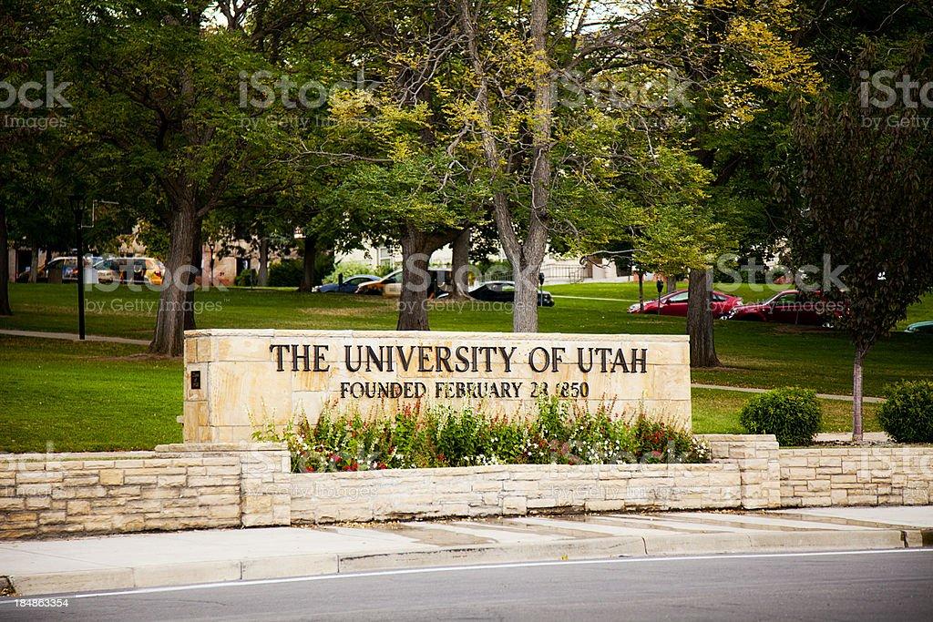 Fotografía de Universidad Señalización Salt Lake City Utah Estados ...