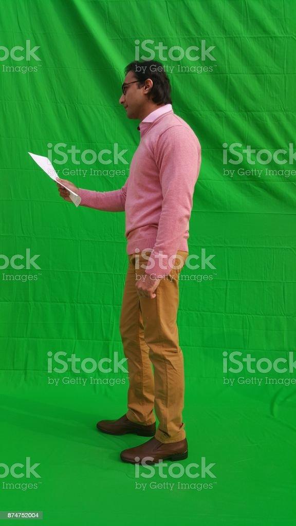 university student college student reading surpised stock photo