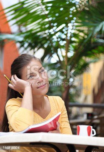 1183295518 istock photo University student thinking at cafe 146816924