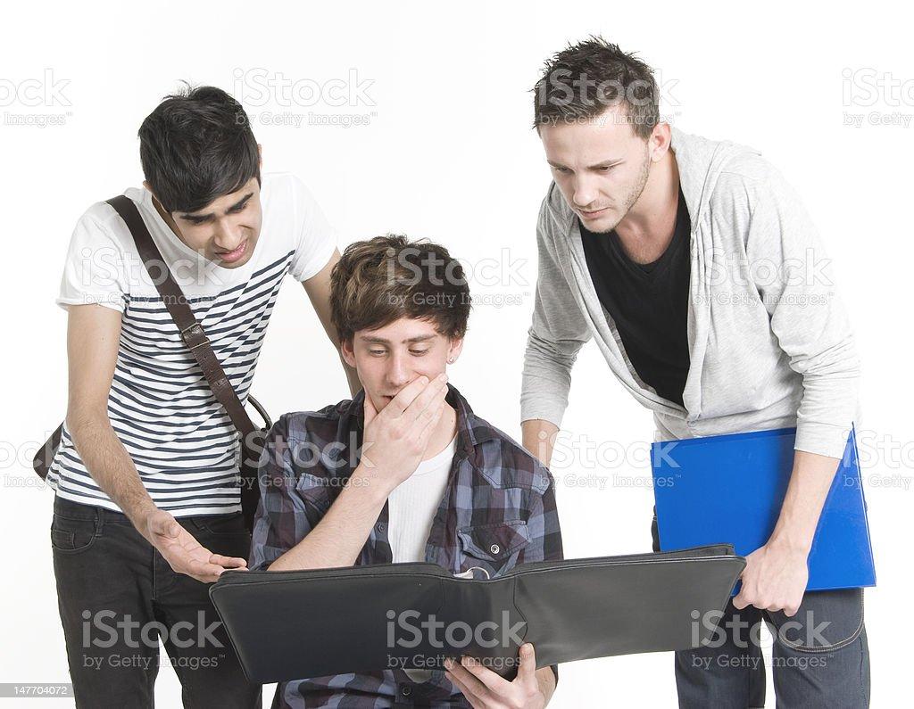 University Students Checking Exam Results royalty-free stock photo
