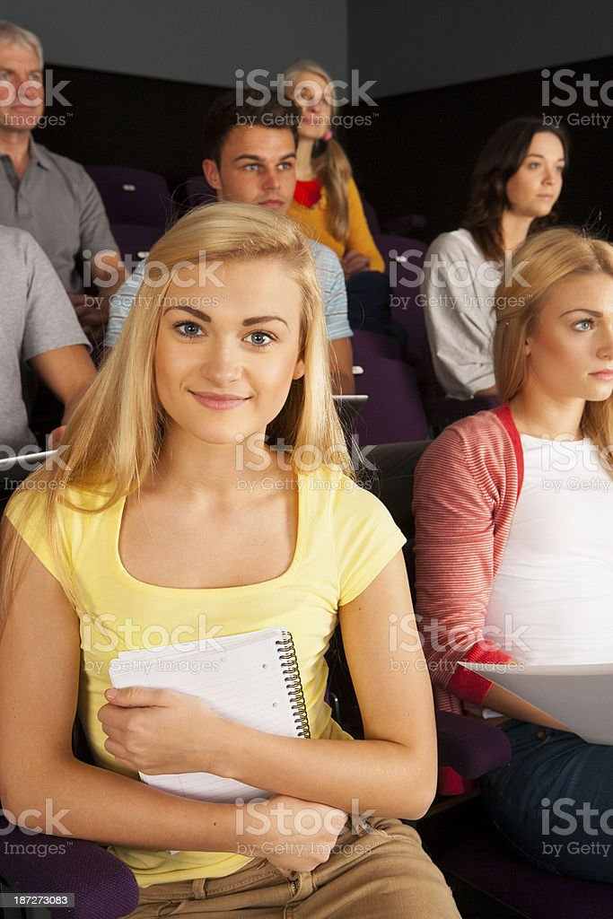 University Students in Lecture room royalty-free stock photo