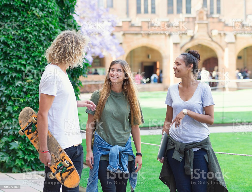 University students in Sydney stock photo