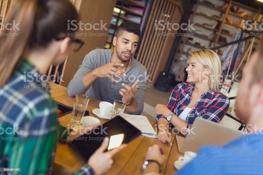 University students learning for their upcoming exams. stock photo