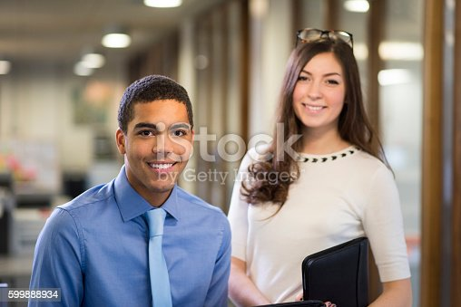 istock university students on a work placement . 599888934