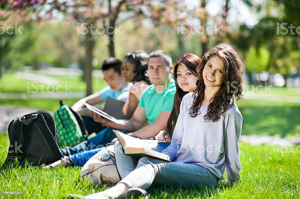 University Students Outside royalty-free stock photo