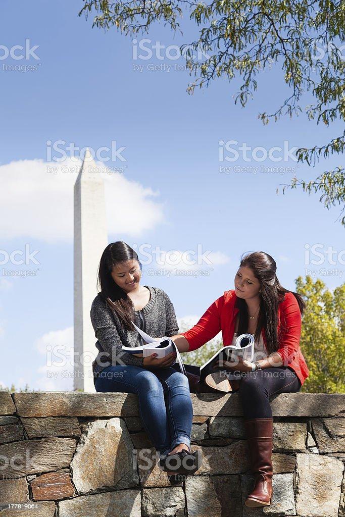 University Students Studying Together in Washington, DC stock photo