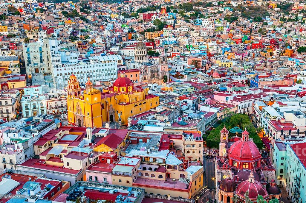 University Temple Companiia Our Lady Basilica Guanajuato Mexico stock photo