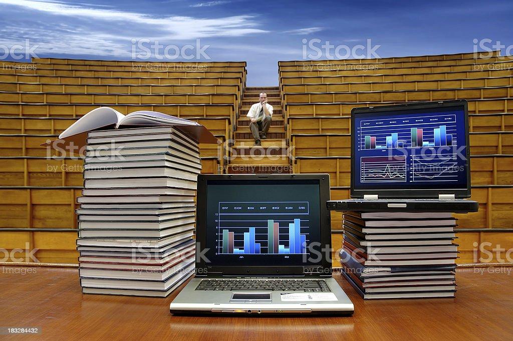 university under the blue sky royalty-free stock photo