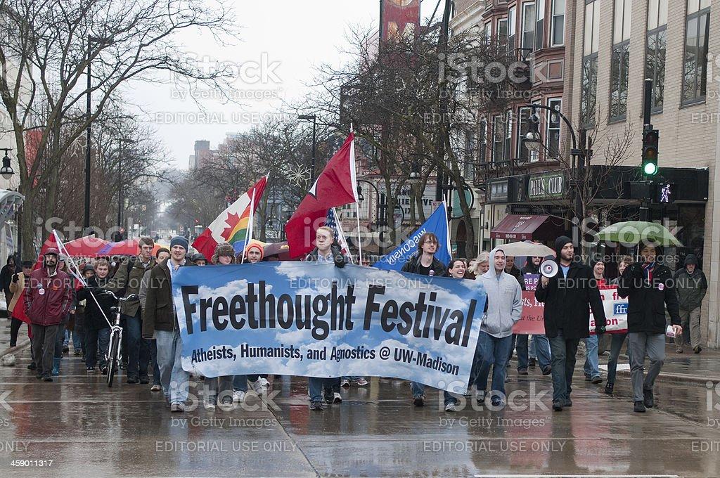 University Wisonsin-Madison's Freethought Festival stock photo