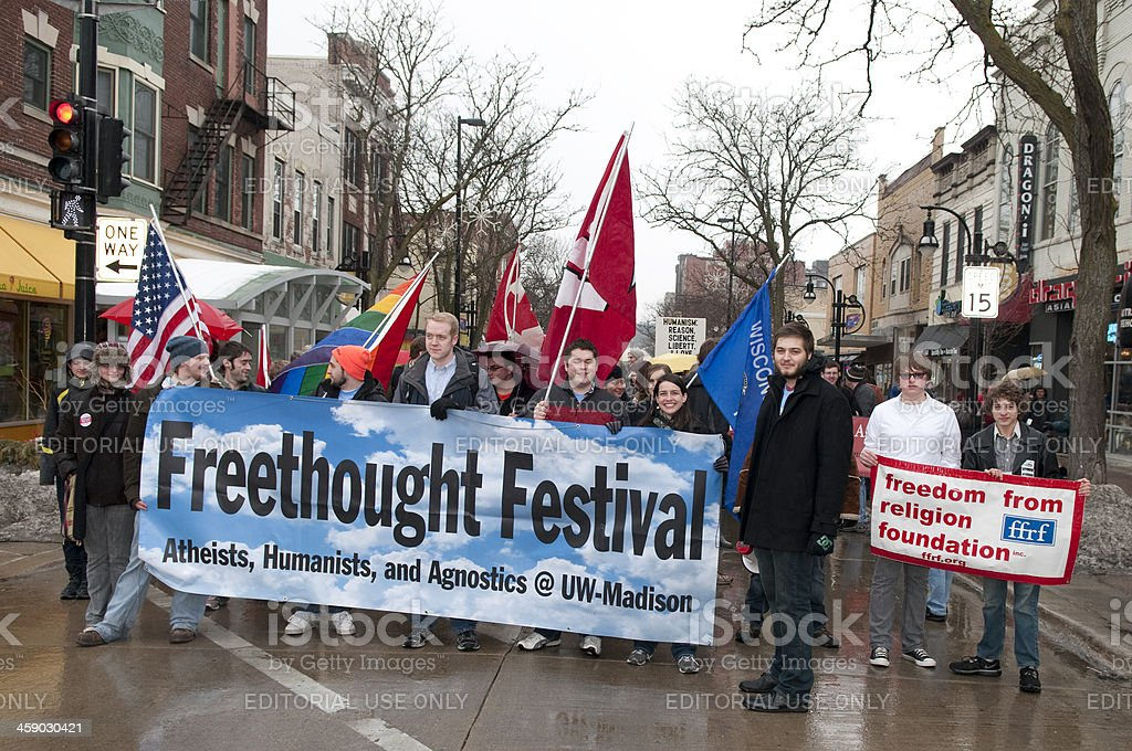 University Wisonsin-Madison's Freethought Festival stock photo