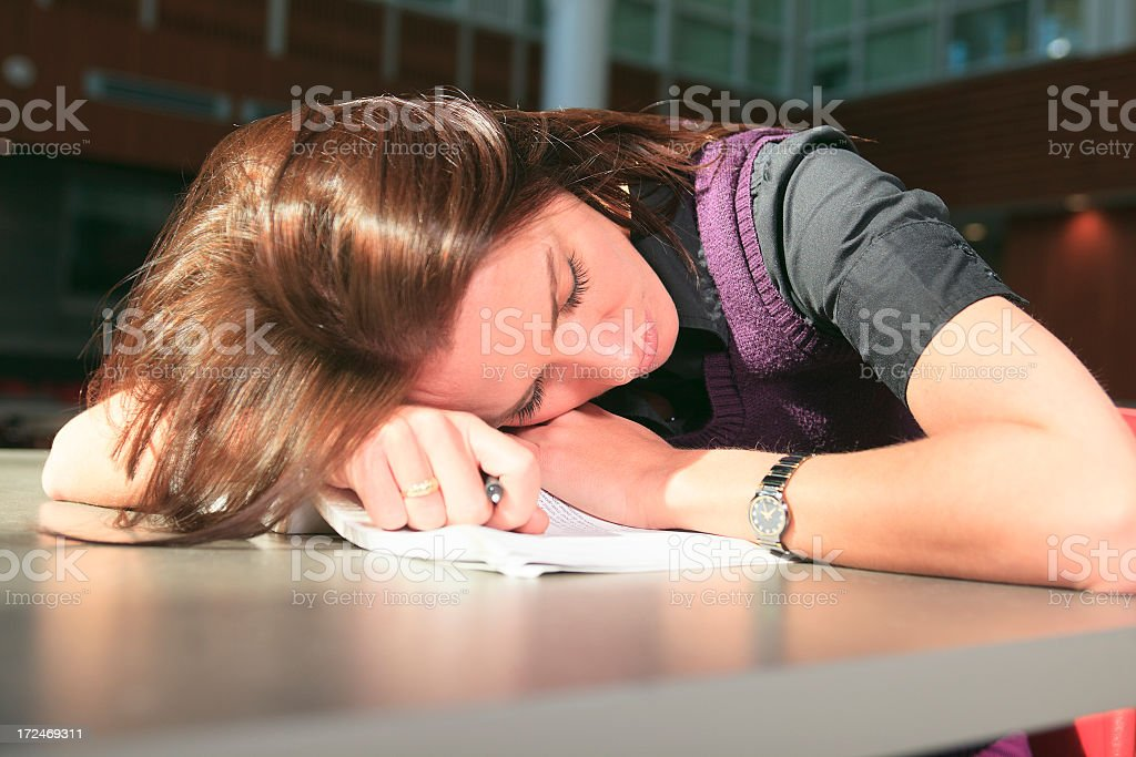 University - Woman Sleep royalty-free stock photo