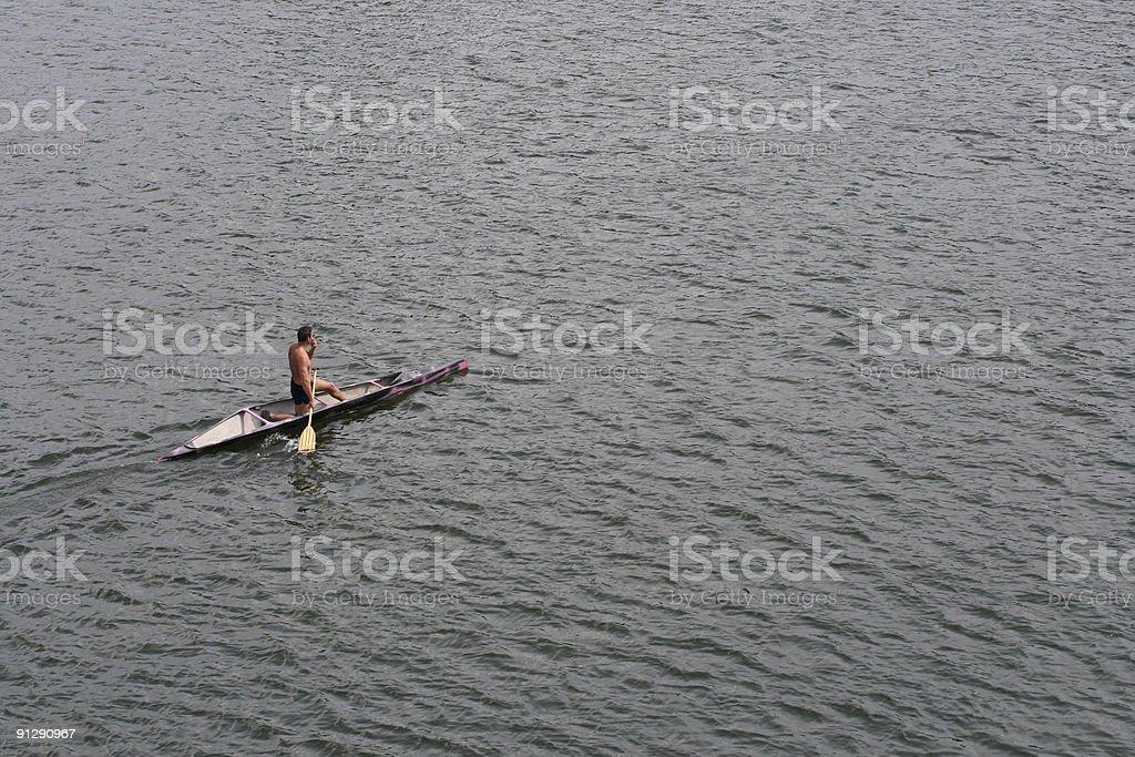 Unknown Canoeist stock photo