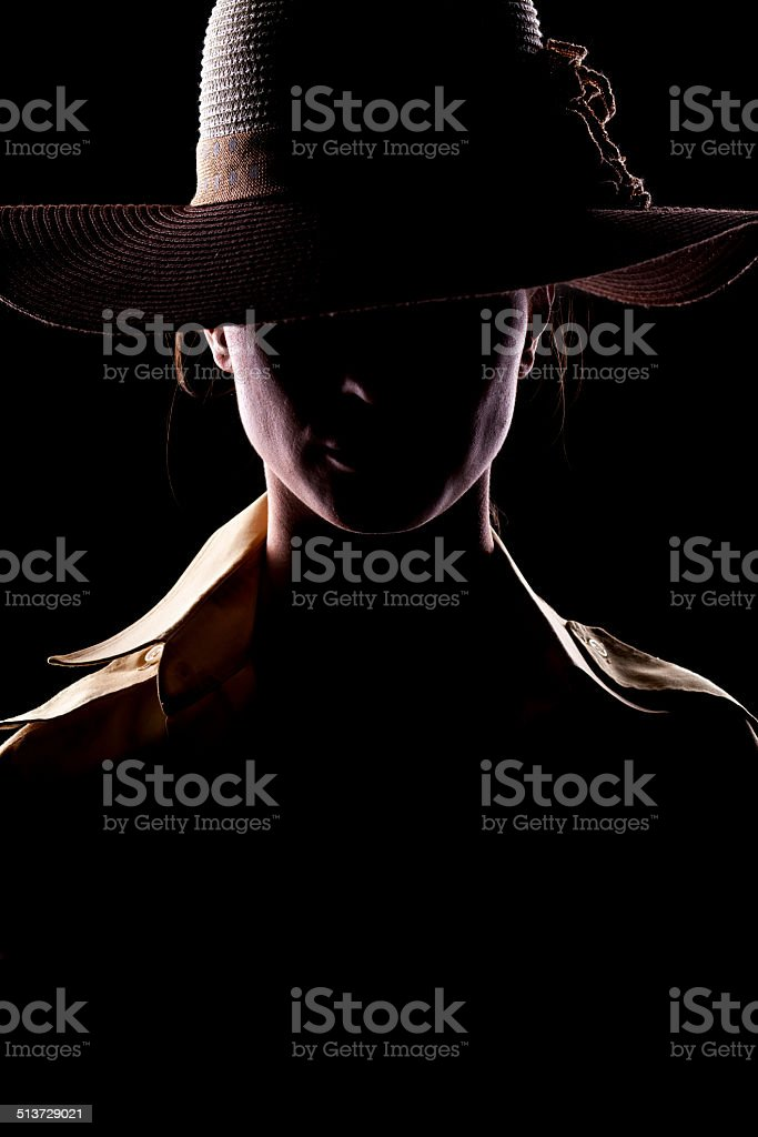 unknown lady stock photo