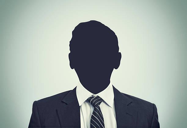 Unknown person silhouette stock photo