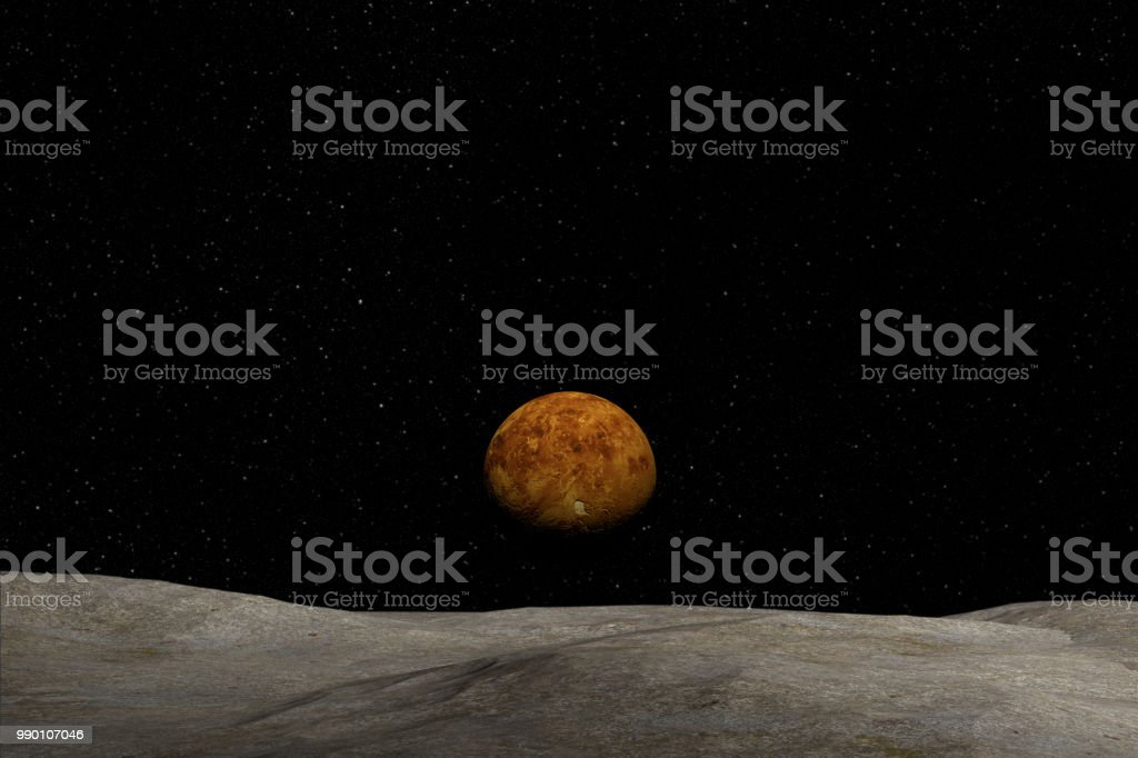Unknown planet, stars and nebula in outer space. stock photo