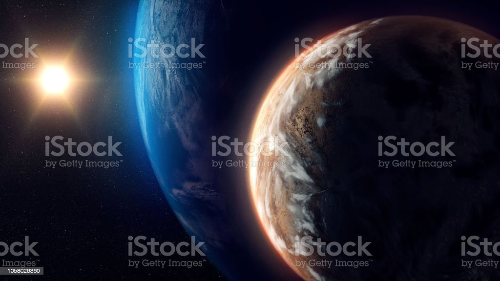 Unknown Planets Beyond Our Solar System stock photo