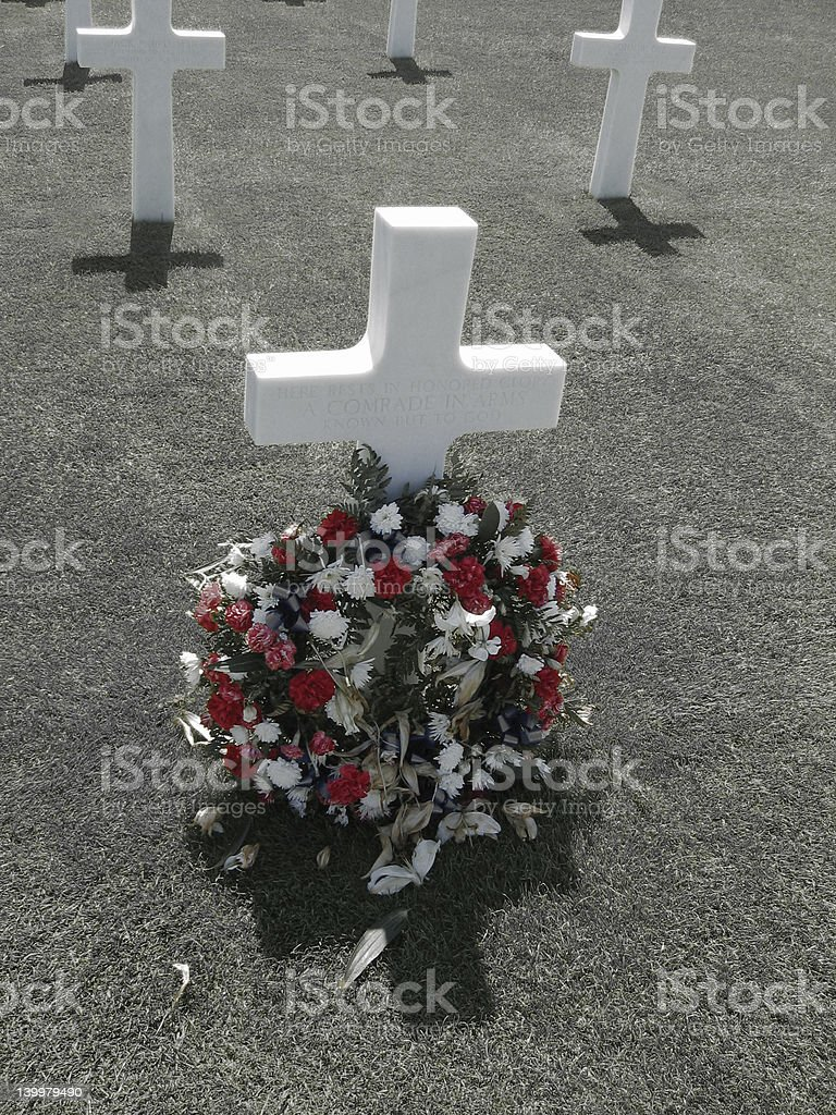Unknown Soldier: D-Day royalty-free stock photo