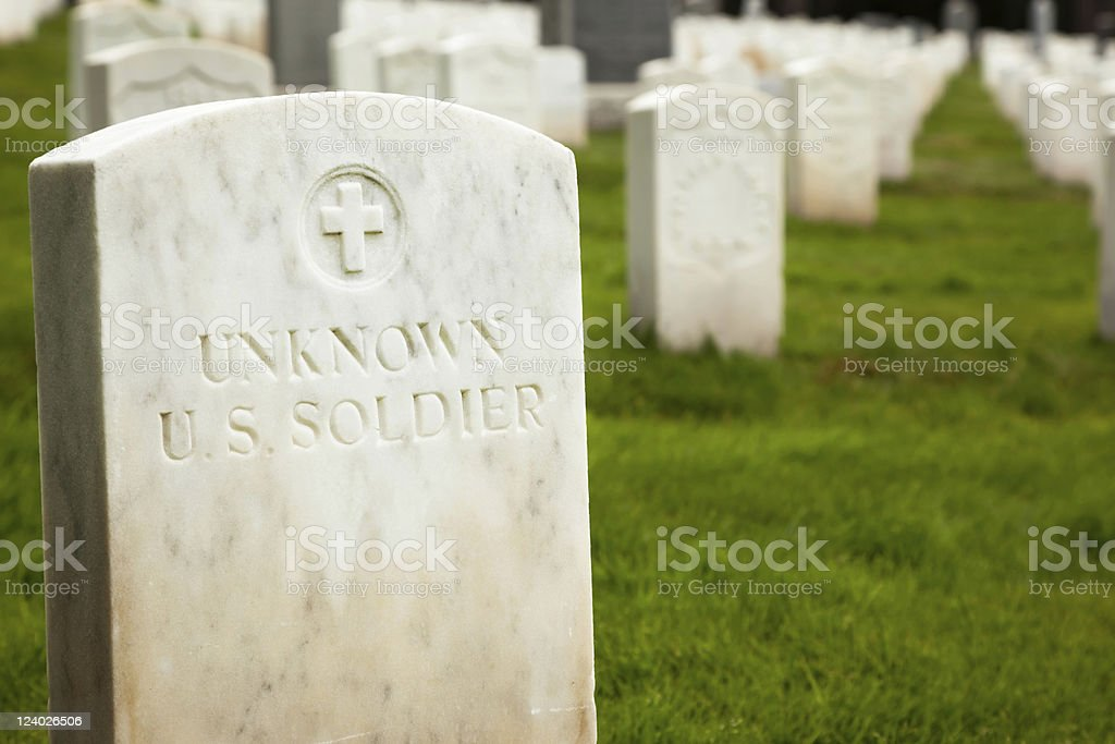 Unknown Soldier grave site stock photo