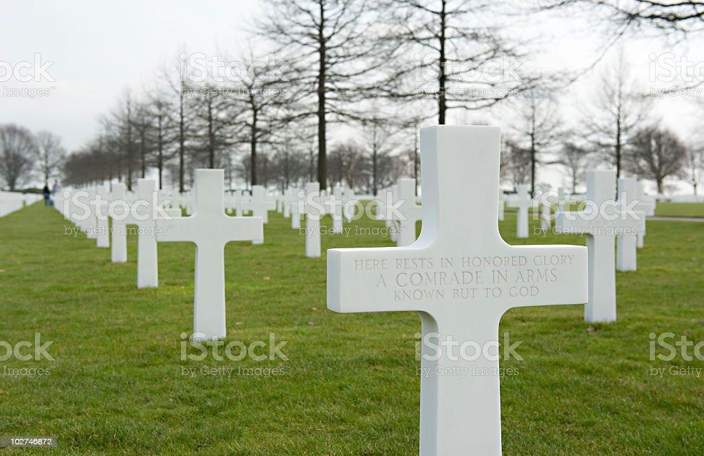 Unknown soldier gravestone Netherlands stock photo